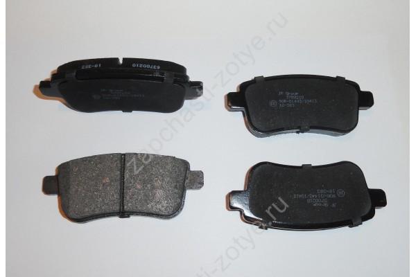 Колодки тормозные задние T600/Coupa  (неоригинал пр-во Дания)